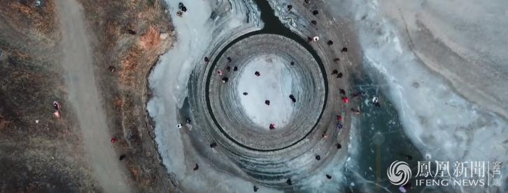 神秘的旋转冰盘引发围观 - 长天秋水2 - 长天秋水 的博客