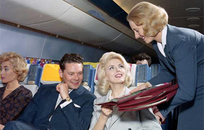 20世纪60年代的飞机头等舱 不输现在