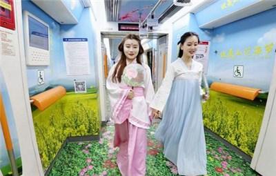"""郑州地铁这个花海专列,众多""""网红""""来打卡"""