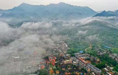四川宜宾长宁县6.0级地震 震中双河镇航拍