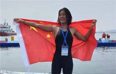 创造历史!中国选手辛鑫夺世锦赛女子10公里游泳金牌