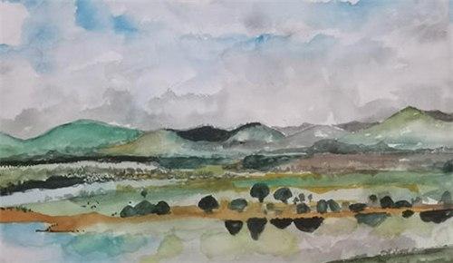 两会?童画黄河:黄河滩变万亩良田,黄河水变干净湛蓝