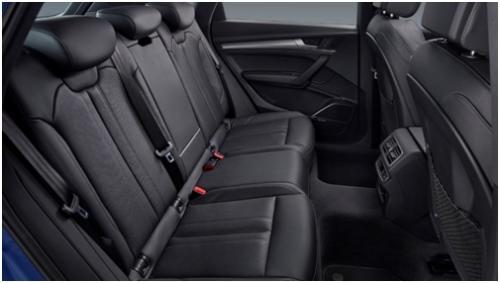 奥迪Q5L 提供同级最宽敞的后排乘坐空间