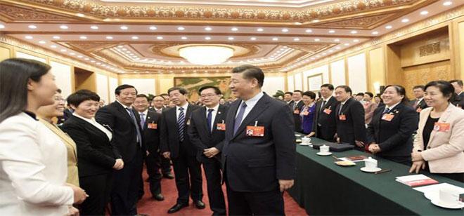 习近平参加河南代表团审议。