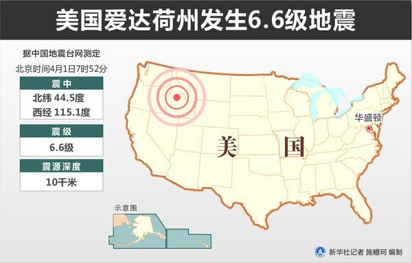 美国爱达荷州发生6.5级地震无人员伤亡