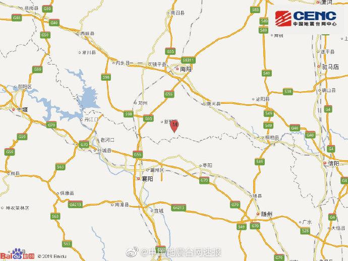 地震最新消息:今天河南南阳市新野县(疑爆)发生2.1级地震 震源深度0千米