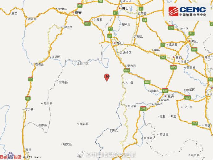 地震最新消息:今天四川乐山市马边县发生3.8级地震 震源深度14千米
