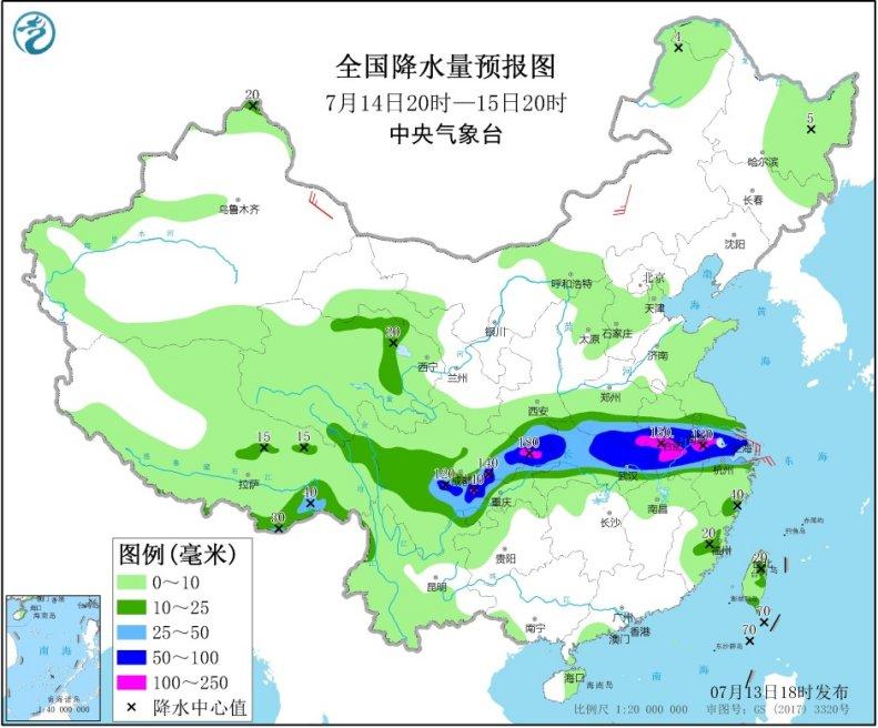 《【超越娱乐平台首页】中央气象局:我国西南地区东部江汉江淮等地有强降雨》