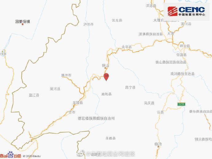 地震最新消息:今天云南保山市隆阳区发生3.0级地震 震源深度9千米