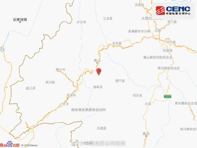 地震最新消息:今天云南保山市隆阳区发生3.7级地震 震源深度9千米