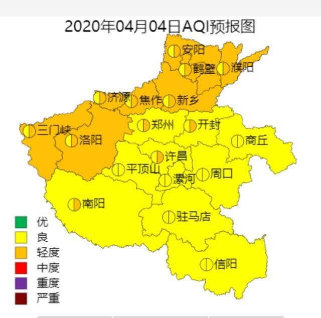清明节假期前后,河南全省空气质量整体为良