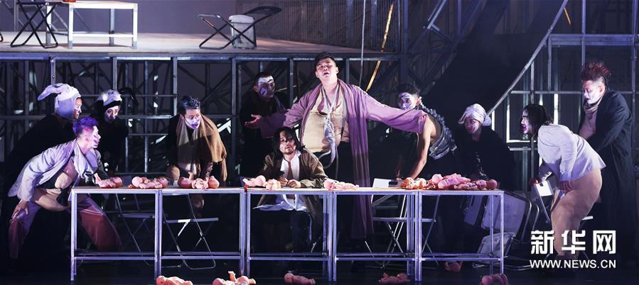 (国际)(7)话剧《茶馆》在法国阿维尼翁戏剧节上演出