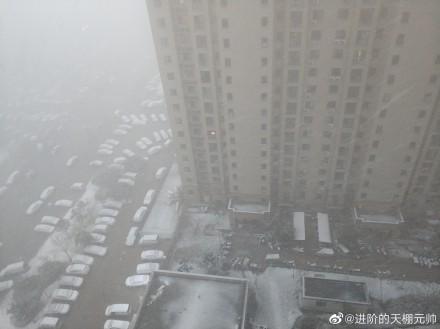 郑州下雪了!2020年的第一场雪来的有些猛烈!