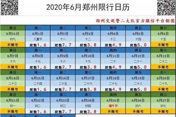 注意!郑州端午节期间机动车限行调整
