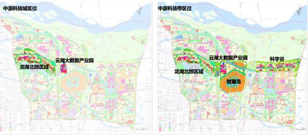 中原科技城规划公布!总面积16.4平方公里,设三大板块五大功能组团