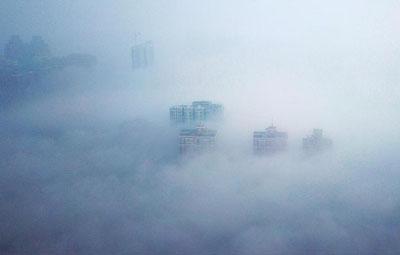 嘿,能看出来吗,这是昨天的郑州