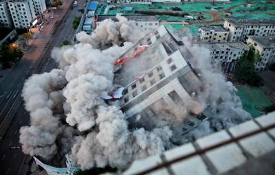 再见,冰熊大厦!郑州昔日地标成功爆破