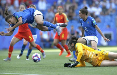 中国队0:2负意大利 止步16强