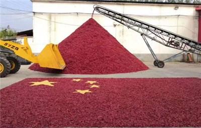 """""""中国辣椒第一镇""""用辣椒玉米拼成""""巨型国旗"""""""