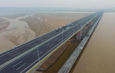 焦郑黄河大桥正式通车 过桥费15元