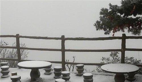 入秋后,河南第一场雪来了