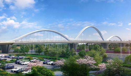 郑州彩虹桥新桥建设今日正式开工